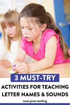 Teaching letter names and sounds to your kindergarten, first grade, or second-grade students? These ideas and activities are fun ways to get students practicing the sounds our letters make and letter recognition. You can use these phonics and phonemic awareness activities during guided reading groups, Daily 5, or literacy instruction. I am sharing 3 letter sound activities that help students identify beginning, middle and end sounds. They are great for working on graphemes and phonemes.