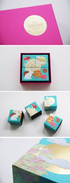 Astrobrights Packaging by Ken Lo, via Behance . mooncake. mid-autumn festival. gold foil stamp. packaging