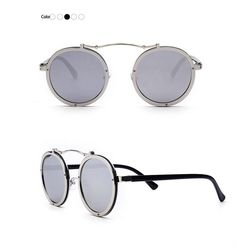 Metal Round Retro Sunglasses – Hello Moa