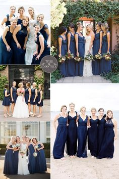 classic blue wedding color inspiration and bridesmaid dresses styles for spring summer 2015