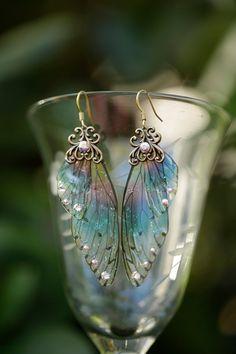 Sprite Fairy Wing Brass oorbellen