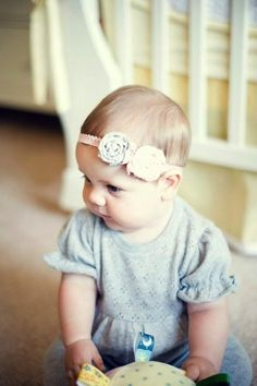 DIY Baby Headband - for craft time at melissas baby shower. Top 28 Most Adorable DIY Baby Projects Of All Time