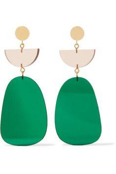 Belle naturel ovale rose rouge Jade Gemme Dangle Earrings