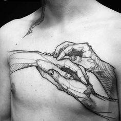 Tattoo hands line