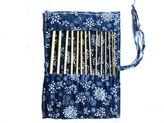 14 pcs of bamboo afghan crochet hooks with case wood craft set by DELIAWINTERFEL >>> To view further for this item, visit the image link. Crochet Hooks, Crochet Pattern, Knit Crochet, Namaste, Wood Crafts, Kit, Knitting, Image Link, Handmade