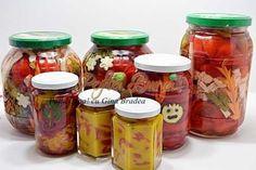 Romanian Food, Romanian Recipes, Artisan Food, Canning Recipes, Preserves, Pickles, Cucumber, Diy And Crafts, Mason Jars