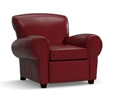 Manhattan Leather Recliner Polyester Wred Cushions Signature Berry Red