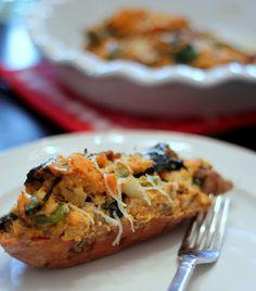 {Twice Baked Breakfast Style Sweet Potatoes}