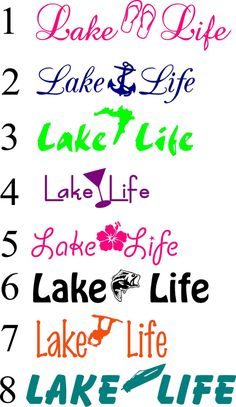 Updated Lake Life Decals or Iron on by NashSignsAndGraphix on Etsy, $5.00