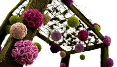 Hanging Wedding Decorations - For your ceremony area or wedding reception entrance adds color & a 3D effect.