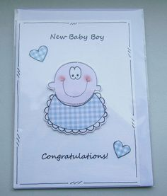 New Baby Boy Congratulations  Can Be by CraftyMushroomCards, £2.35