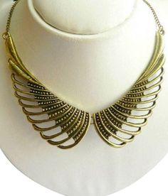 Crunchy Fashion Angel Wings Neckpiece Fashion Angels, Neck Piece, Angel Wings, Jewelery, Stuff To Buy, Accessories, Jewelry, Jewels, Bijoux
