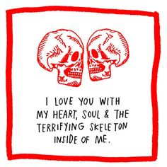 Quotes About Love For Him : Sweet Quirky Valentines Day Cards That Say What You Actually Mean DesignTA I Love You, Just For You, My Love, The Adventure Zone, Red Aesthetic, Statements, True Love, Just In Case, My Heart