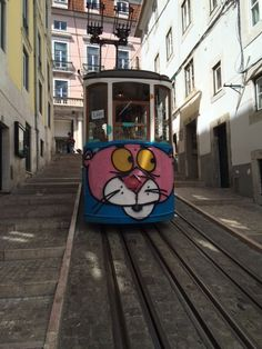 The elevador da Bica (Bica Funicular) is a #funicular railway which connects the Cais do Sodré to the Bairro Alto district.