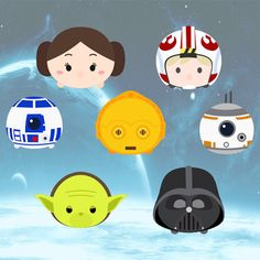 Star Wars vector characters SVG layered cutting file for Cricut and Silhouette by bullgraphics on Etsy