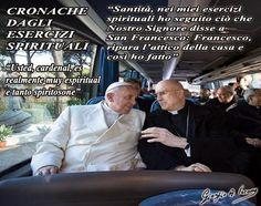Scherzi spirituali di Bertone a Bergoglio