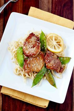 Lemon Ginger Pork Medallions