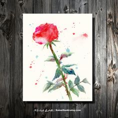 Rose Rose Lover Red Rose 8x10 Giclee Print  by SuisaiGenki on Etsy, $20.00