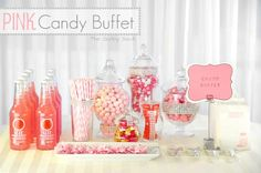 DIY Wedding Crafts : DIY Pink Candy Buffet Table