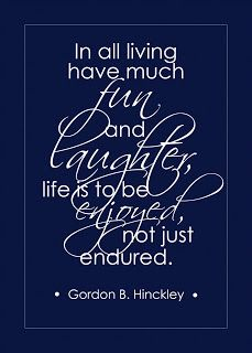 Life Is To Be Enjoyed Quote