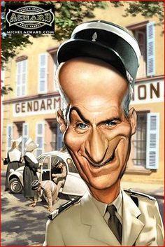 Caricature Louis de Funès Plus - Hubert Lebret - Phintix Share Cartoon Faces, Funny Faces, Cartoon Characters, Caricature Artist, Caricature Drawing, Funny Caricatures, Celebrity Caricatures, Portrait Au Crayon, Portrait Sketches