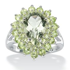Sterling Silver Green Amethyst and Peridot Ring Size: 7 amethyst peridot ring
