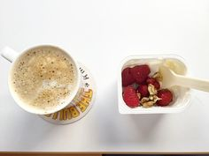 coffe some yoghurt (%40 fat) raspberry and walnut fav combination #health #fitness #workout #bodybuilding #cardio #gym #train #training #healthychoices #active #strong #motivation #determination #lifestyle #diet #getfit #cleaneating #eatclean #exercise #saglikli #spor #beslenme #diyet #motivasyon by mydailynutrition