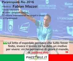 Fabian Mazzei Tennis paralimpiadi Rio 2016 www.piazzabile.it  campione italiano tennis carrozzina