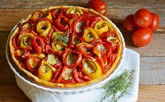 Crostata salata di peperoni