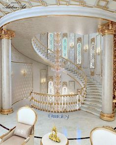 New stairs design architecture grand staircase foyers ideas Luxury Home Decor, Luxury Interior, Home Interior Design, Design Interiors, Modern Mansion Interior, Hotel Interiors, Grand Staircase, Staircase Design, Luxury Staircase