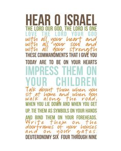 The Shema is the central prayer in the Jewish prayerbook. Shema Israel prayer in English (Deuteronomy The Words, Bible Scriptures, Bible Quotes, Scripture Verses, Deuteronomy 6 4, Philippians 4, Encouragement, Love The Lord, Word Of God