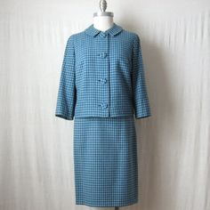 Womens Suit Pendleton Jacket & Skirt by ultravioletvintage on Etsy
