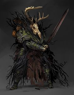 ArtStation - Knight of the Cursed Forest, Todd Ulrich Fantasy Races, Fantasy Armor, Medieval Fantasy, Dark Fantasy Art, Fantasy Monster, Monster Art, Dnd Characters, Fantasy Characters, Paladin