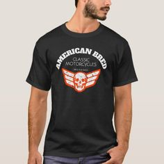 American Bred Classic Motorcycles Skull Wings T-Shirt   snowmobile quotes girl, biker beard, motorcycle birthday quotes #bikers #bikerschick #bikerthought, 4th of july party