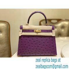 HERMES OSTRICH LEATHER KELLY 25 BAG purple Miu Miu Handbags, Balenciaga Handbags, Valentino Handbags, Chloe Handbags, Burberry Handbags, Bvlgari Handbags, Goyard Bag, Dolce And Gabbana Handbags, Purple Bags
