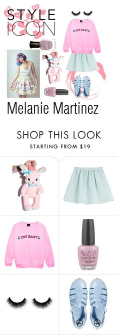 """Melanie Martinez pastel design"" by mirjamhappynow ❤ liked on Polyvore featuring Tara Jarmon, OPI, JuJu and Deborah Lippmann"