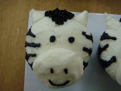Zebra face cupcake