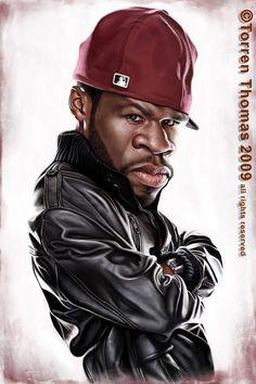 Caricatura de 50 Cent  ~ Ʀεƥɪииεð вƴ╭•⊰✿ © Ʀσxʌиʌ Ƭʌиʌ ✿⊱•╮