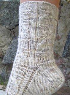 Ravelry: Grecian Columns Socks pattern by Cynthia Levy