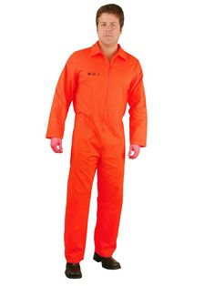 Prison Department of Corrections Adult Mens Plus Size Costume - Halloween Costumes Plus Size Men, Trendy Plus Size, Fantasia Plus Size, Prison Jumpsuit, Denim Jacke, Plus Size Costume, Department Of Corrections, Adult Costumes, Overalls