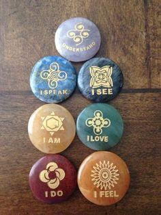 Chakra Stone Set with Affirmation Blog