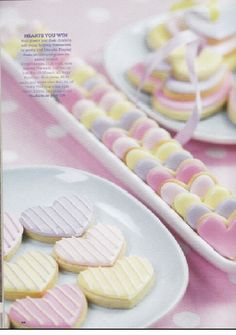 Heart shaped biscuits with royal icing