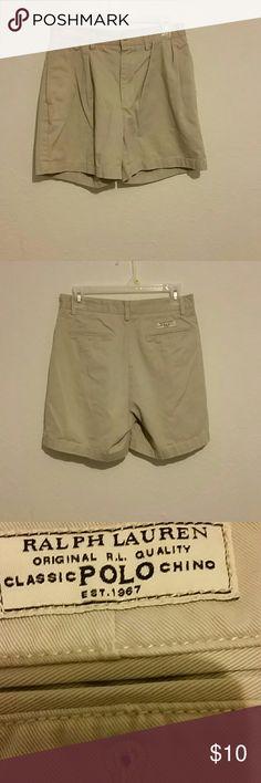 Ralph Lauren Andrew shorts Tan 100% cotton shorts Size 30. Ralph Lauren Shorts Flat Front
