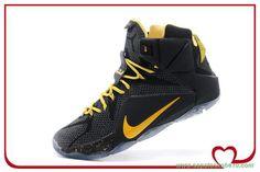 tenis de basket Nike Lebron 12 Preto/Amarelo