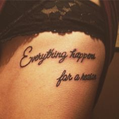 Everything happens for a reason. This quote is so special to me and is basically the quote I live by. #ehfar