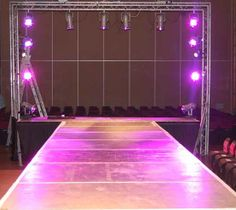 Catwalk & lighting installed by www.24carrotevents.co.uk
