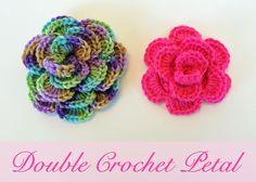 Double Crochet Flower ~ free pattern