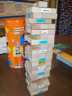 Articulation Jenga...free download included!