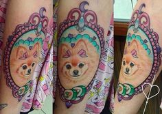 pomeranian dog tattoo