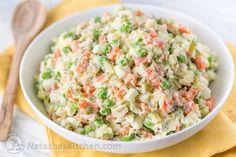 Chicken Olivye (Chicken Potato Salad)